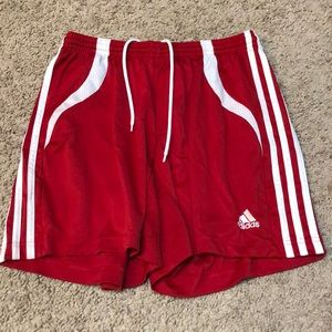 Red soccer/athletic shorts!